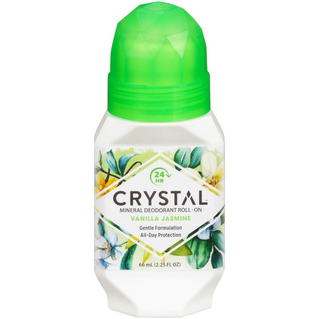 Roll-on Crystal, Vanilija & Jasmin, ženski ali moški, 66 ml