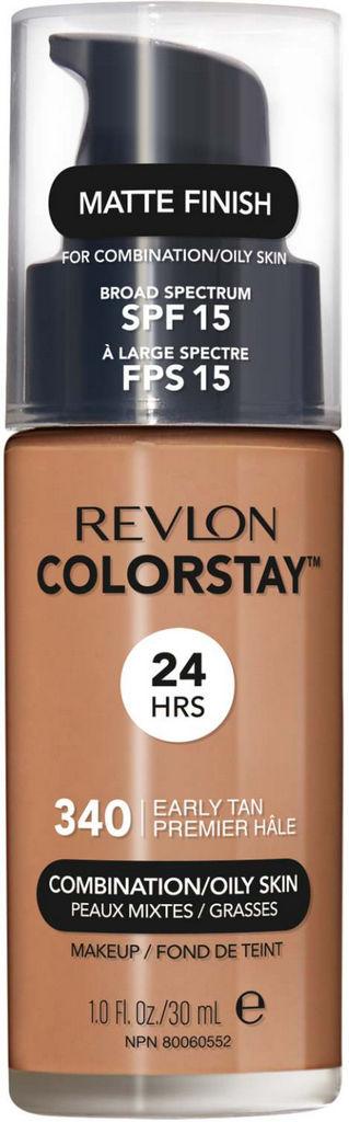Puder tekoči Revlon Colorstay za mešano do mastno kožo – Early Tan 340