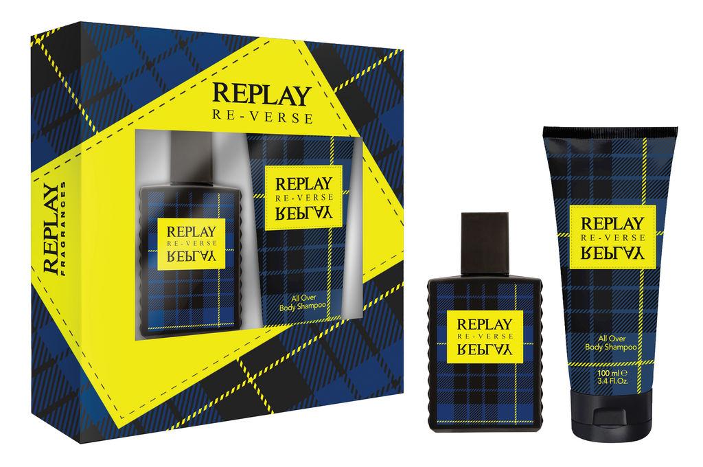 Darilni set Replay, Reverse for man 30ml + body shampoo 100ml