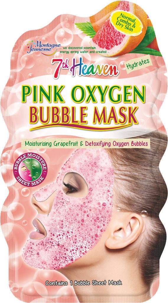 Maska za obraz 7th Heaven, Pink oxygen bubble, 20 g