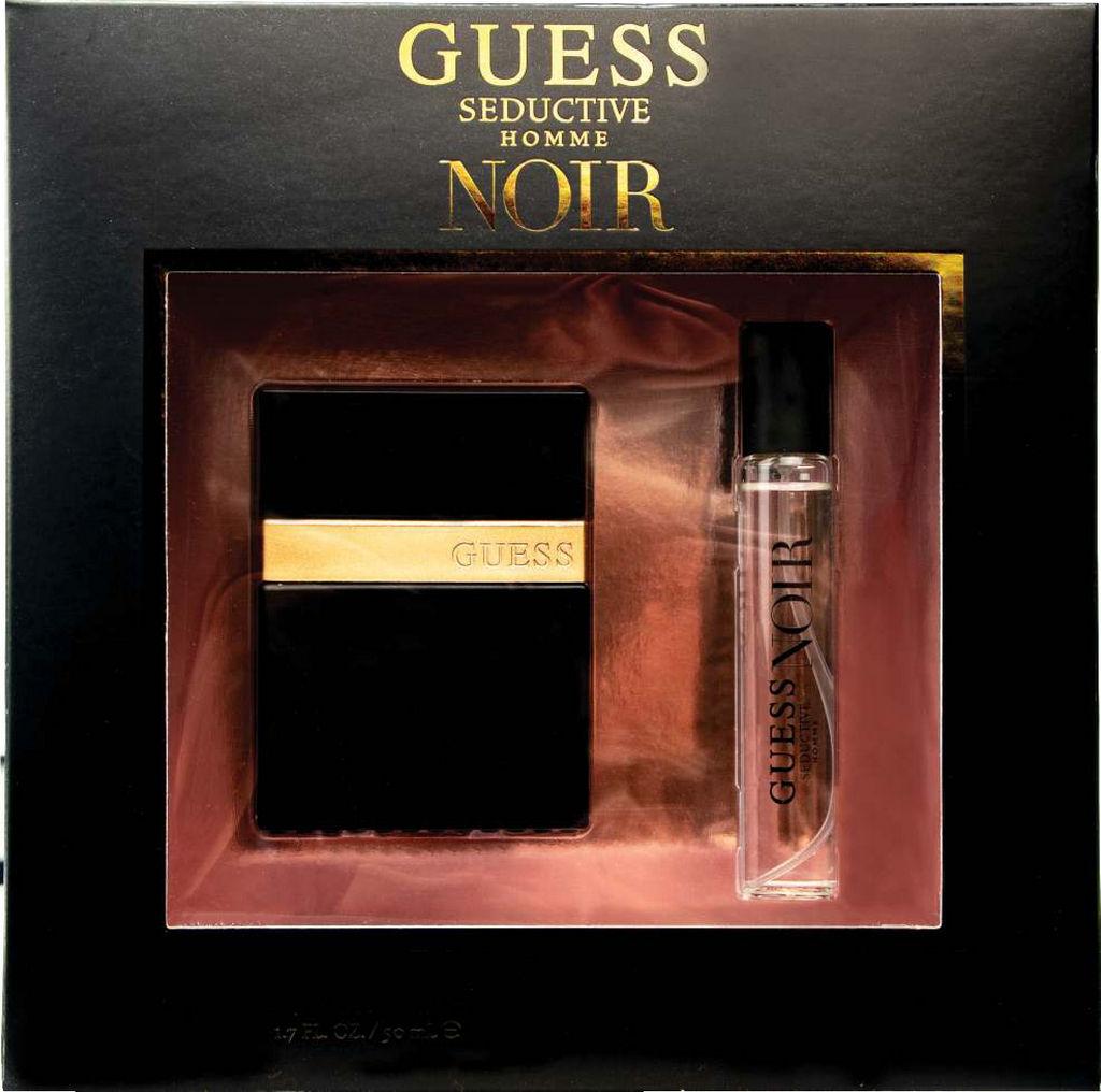 Darilni set Guess, Seductive Homme Noir, toaletna voda 50ml + 15ml