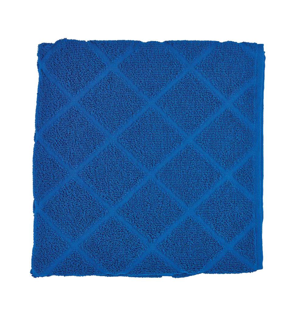 Brisača Decoris, Peony, modra, 50x100cm