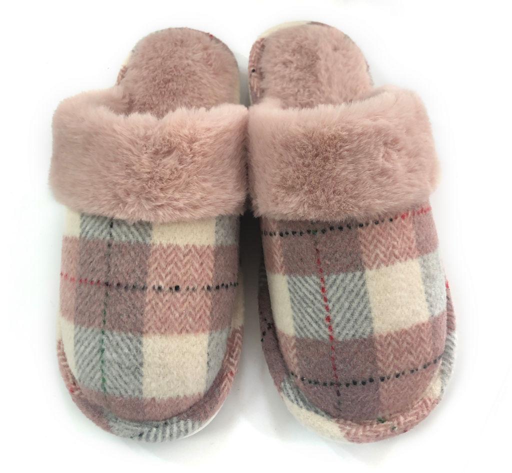 Copati ženski Checks&fur pink, vel.37-41