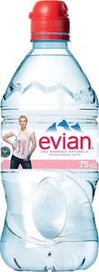 Mineralna voda Evian, športni zamašek, 0,75l