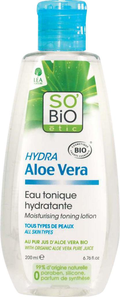 Tonik čistilni za obraz, So Bio, vlažilni aloe vera, 200ml