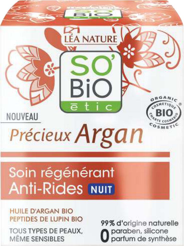 Krema So Bio, argan AA, nočna, 50ml