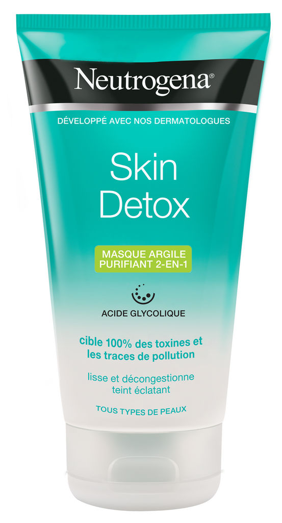 Maska čistilna Neutrogena, Skin Detox z glino 2 v 1, 150 ml