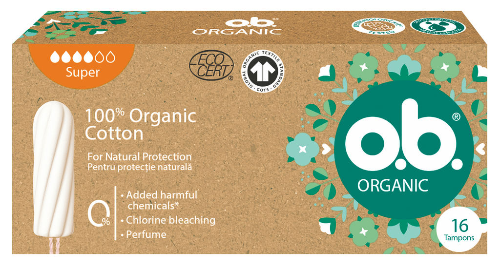 Tamponi O.B. organic, super, 16/1