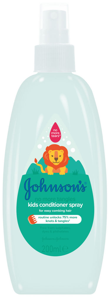 Balzam za lase v spreju Johnson's otroški za lažje razčesavanje, 200ml