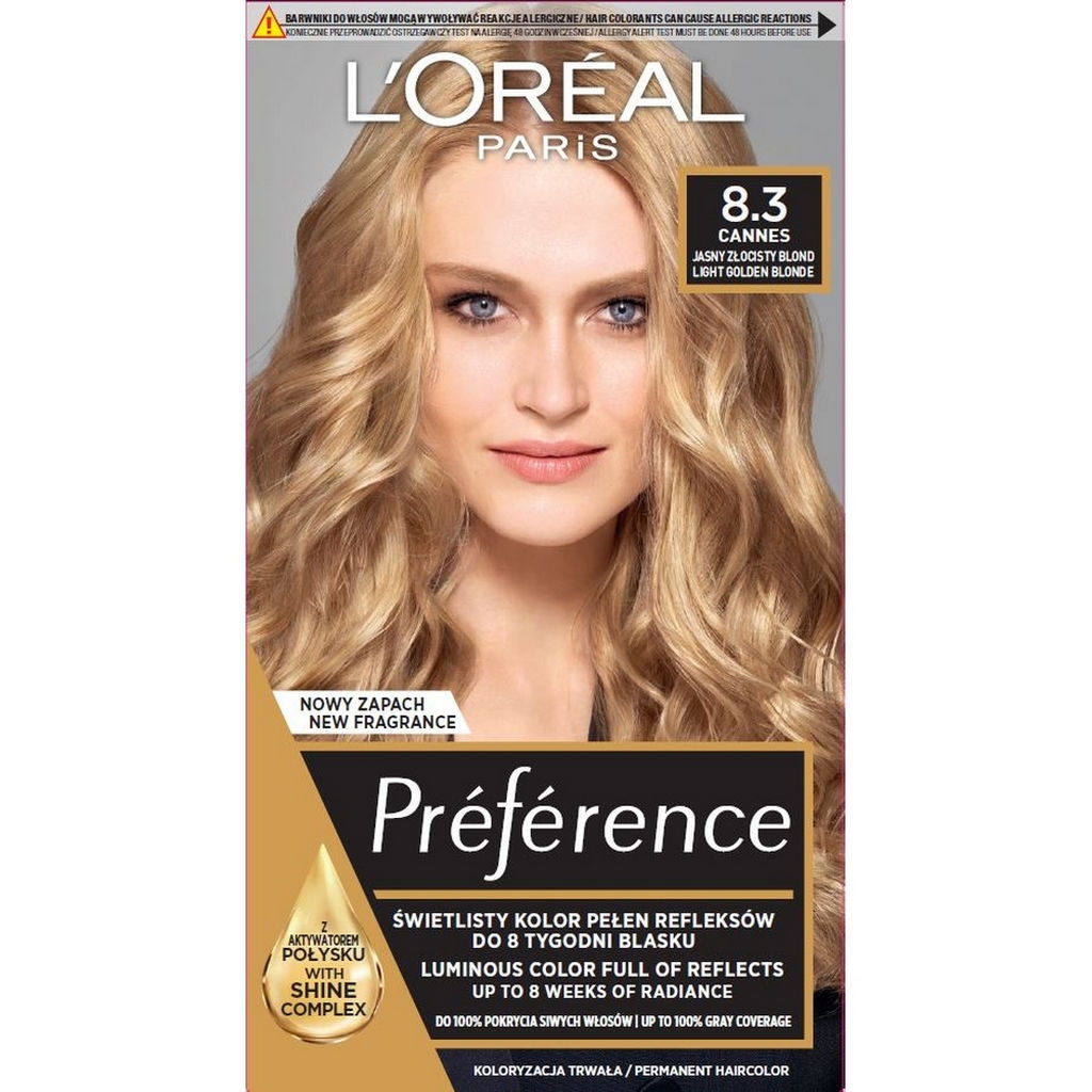 Barva za lase L'Oreal Preference Recital 8.3