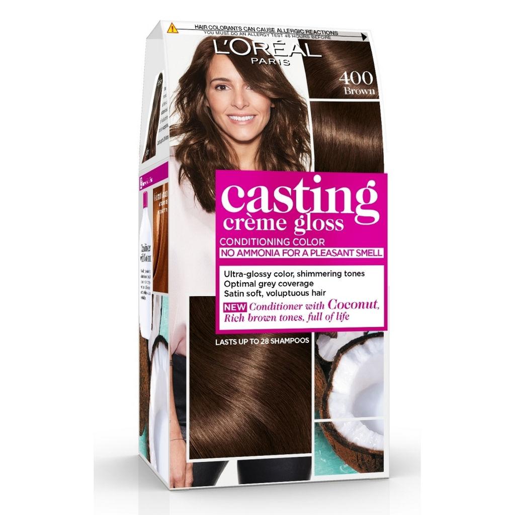 Barva za lase Casting gloss, 400, rjava