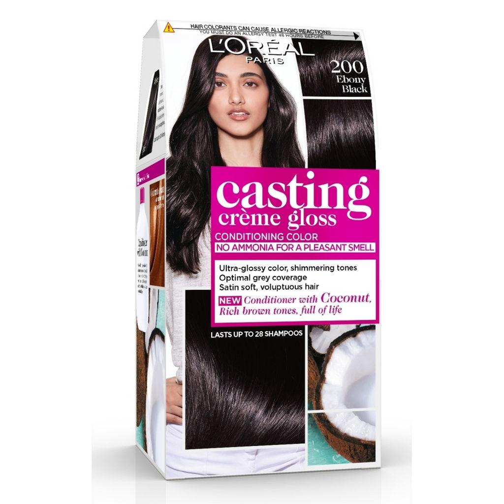 Barva za lase Casting gloss, 200, ebenovina