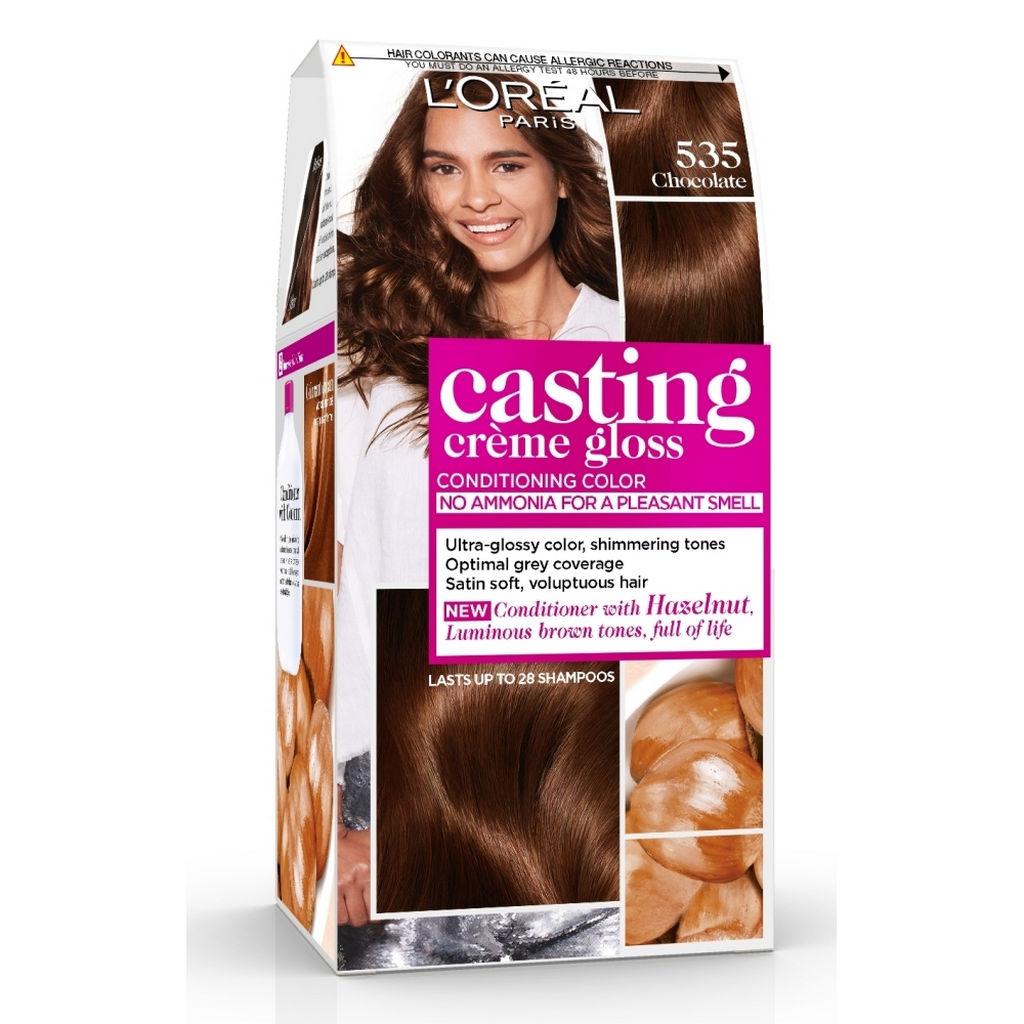 Barva za lase Casting gloss, 535, čokolada