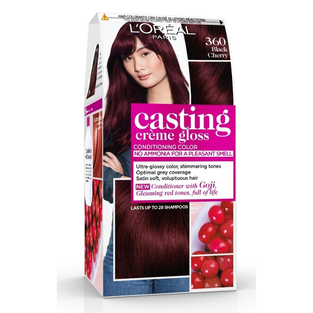 Barva za lase Casting gloss, 360, črna češnja
