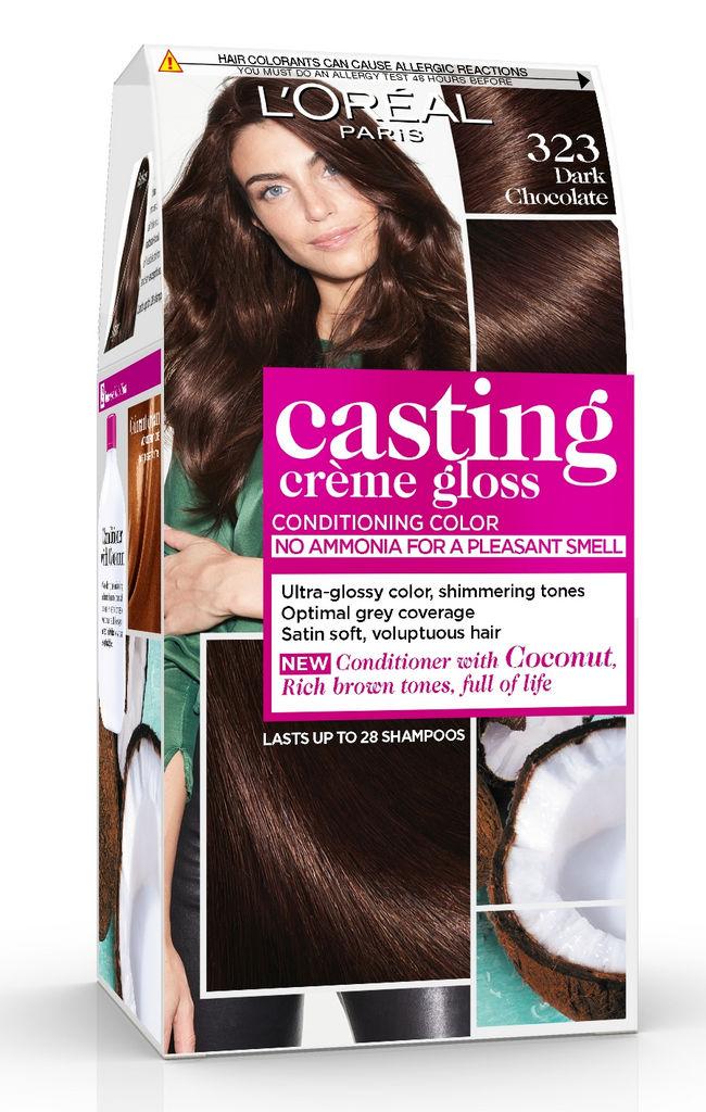 Barva za lase Casting gloss, 323, t.čokolada
