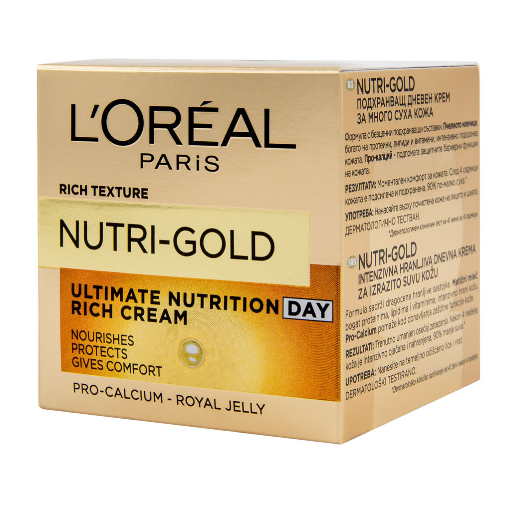 Krema L'oreal, Nutri gold dnevna, 50 ml