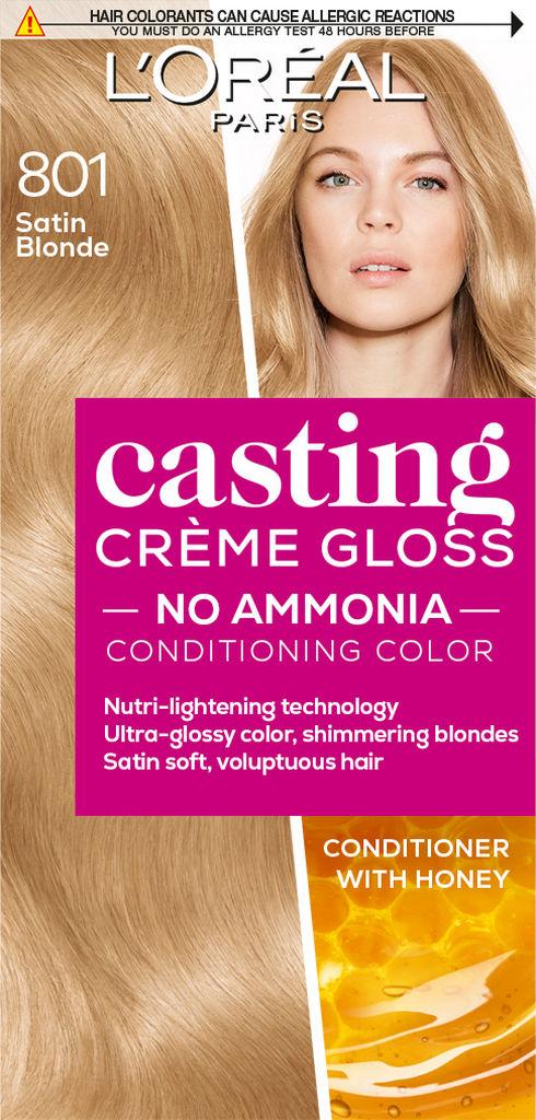 Barva za lase Casting gloss, 801, Satin blonde
