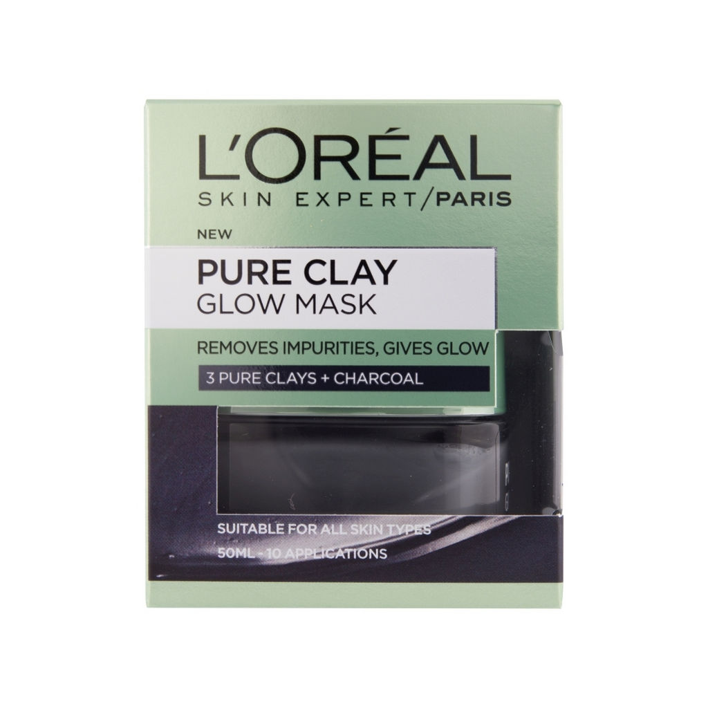 Maska L'oreal, Pure Clay, Glow, 50ml