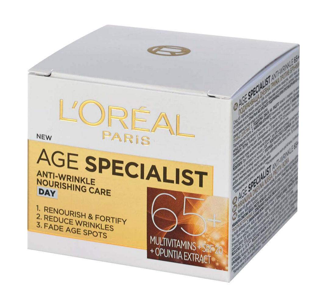Krema L'oreal, Age specialist 65+, dnevna, 50 ml