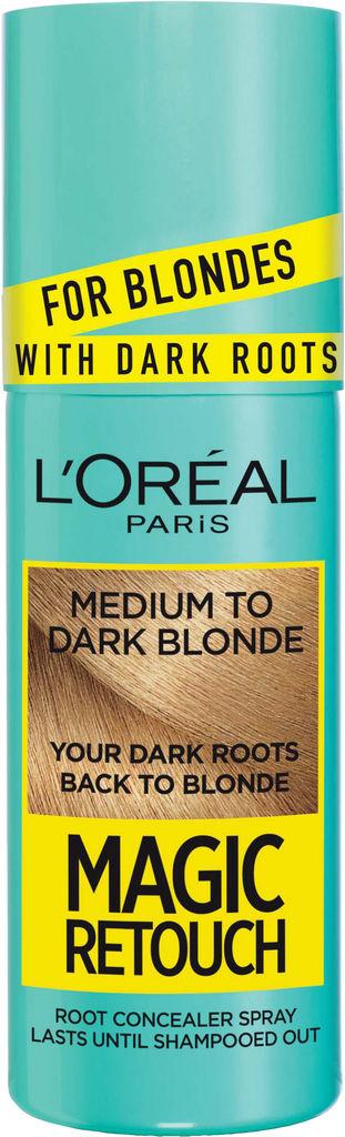 Sprej za prekrivanje narastka L'Oreal, Magic retouch, Dark roots, medium