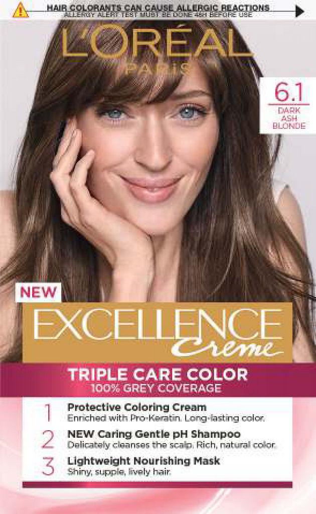 Barva Excellence, dark ash blonde 6.1.