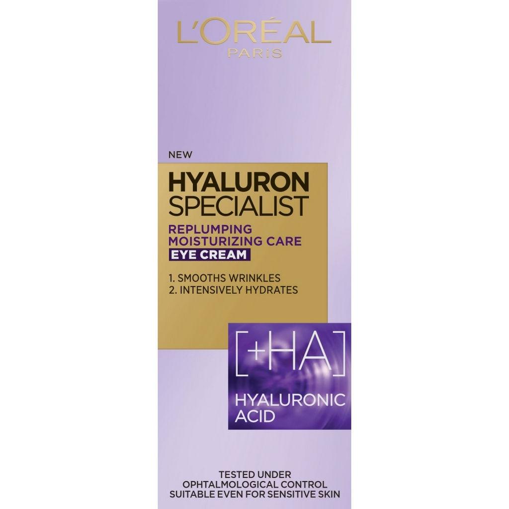 Krema L'Oreal, Hyaluron specialist, za okog oči, 15 ml