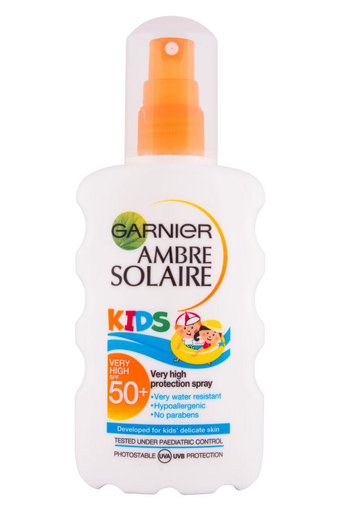 Mleko Garnier Ambre Solaire, Kids, v spreju, SPF 50, 200 ml