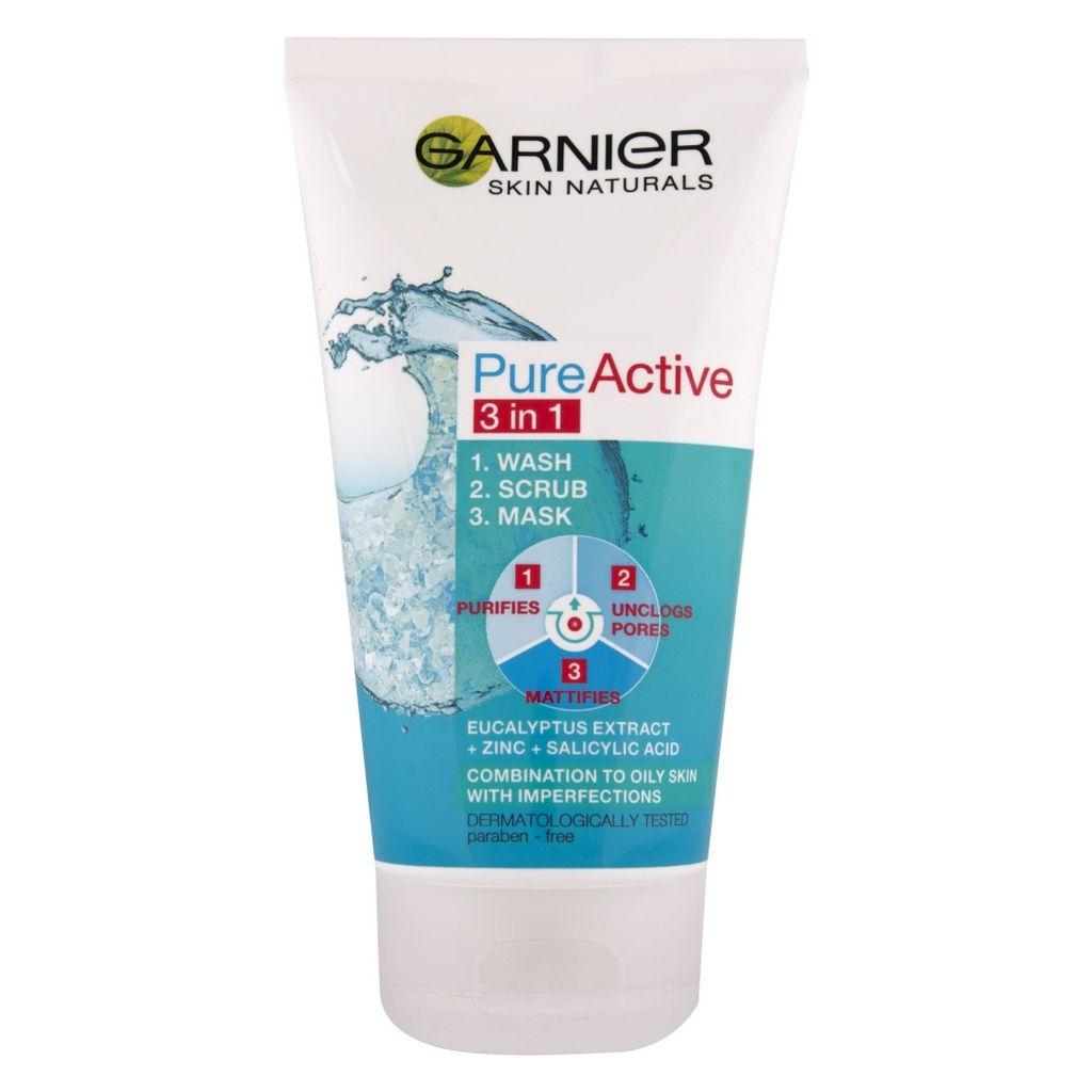 Čistilni gel Garnier, Pure Active 3 v 1, 150 ml