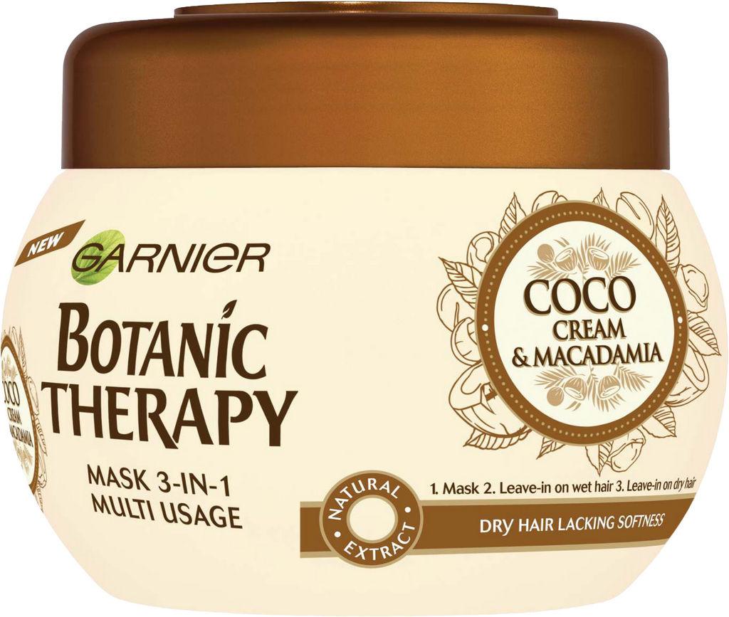 Maska za lase Garnier, Botanic Therapy Coco Milk & Macedamia, 250 ml