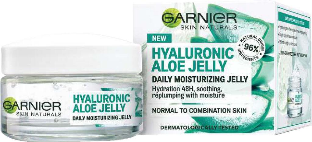 Krema za obraz Garnier, Hyaluronic Aloe Jelly vlažilna, 50 ml