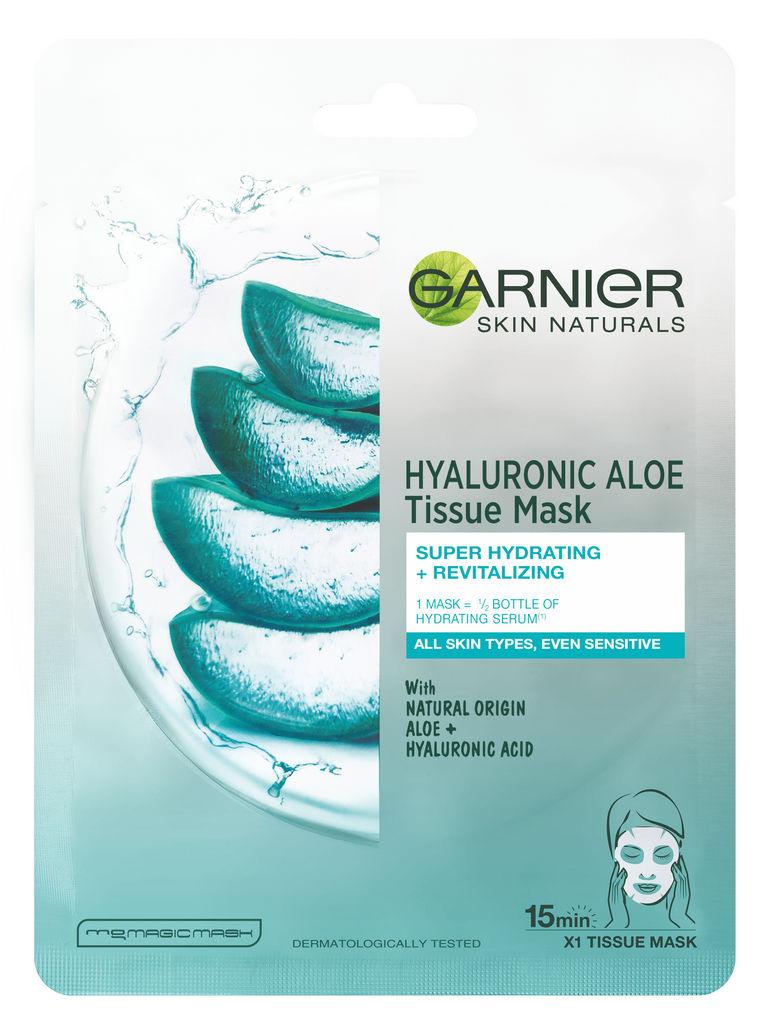 Maska Garniere Skin nat hyaluronic aloe tissue mask