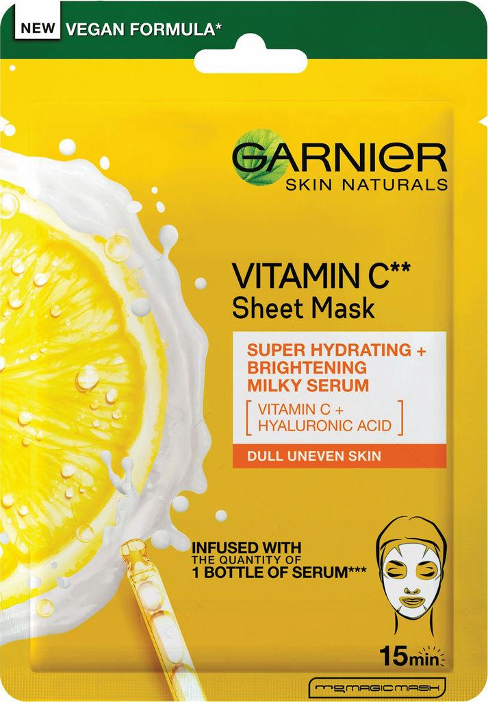 Maska tekstilna Garnier, Skinactive, Vitamin C, 28 g