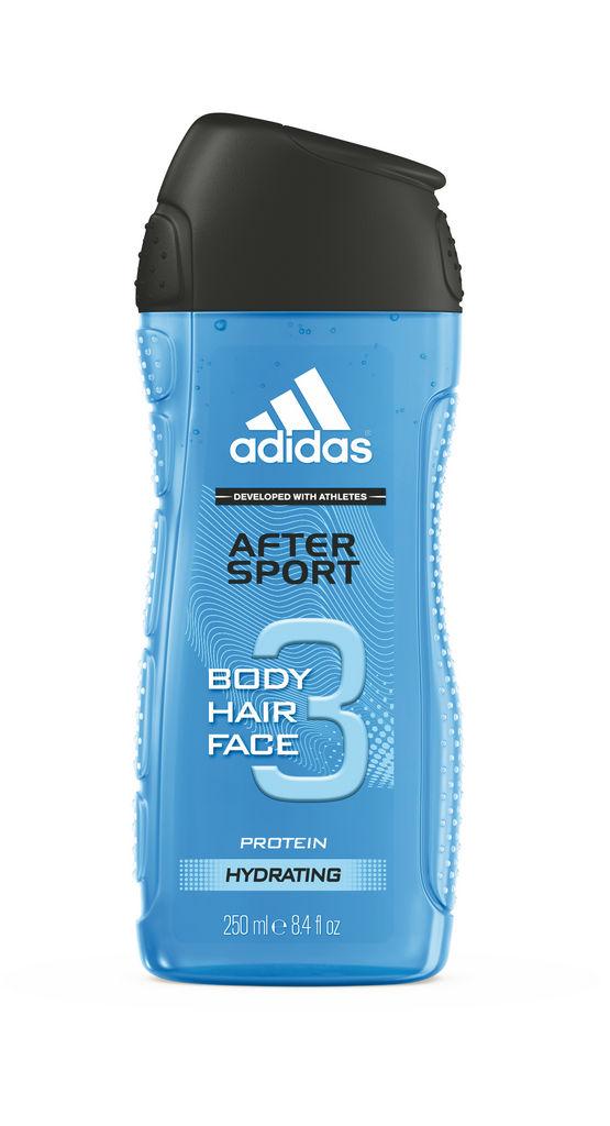 Gel za prhanje Adidas, After sport moški, 250ml