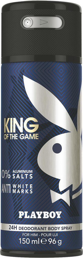 Dezodorant Playboy,  King, moški, 150ml