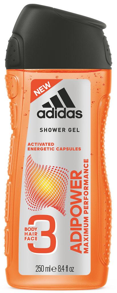 Gel za prhanje Adidas, Adipower moški, 250ml