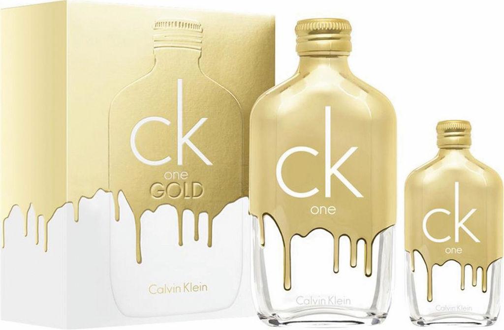 Darilni set Calvin Klein Gold, toaletna voda v spreju, 200 ml in 50 ml