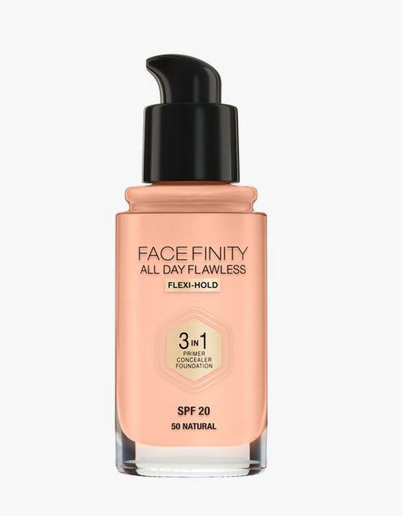 Puder tekoči, Max Factor, Face Finity 3v1, natural 50, 30ml