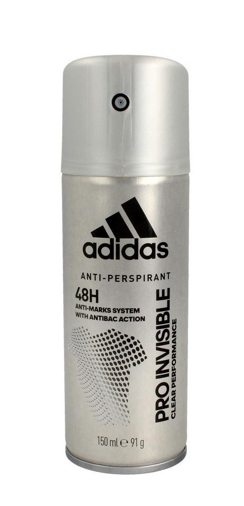 Dezodorant Adidas sprej, Invisible, moški, 150 ml