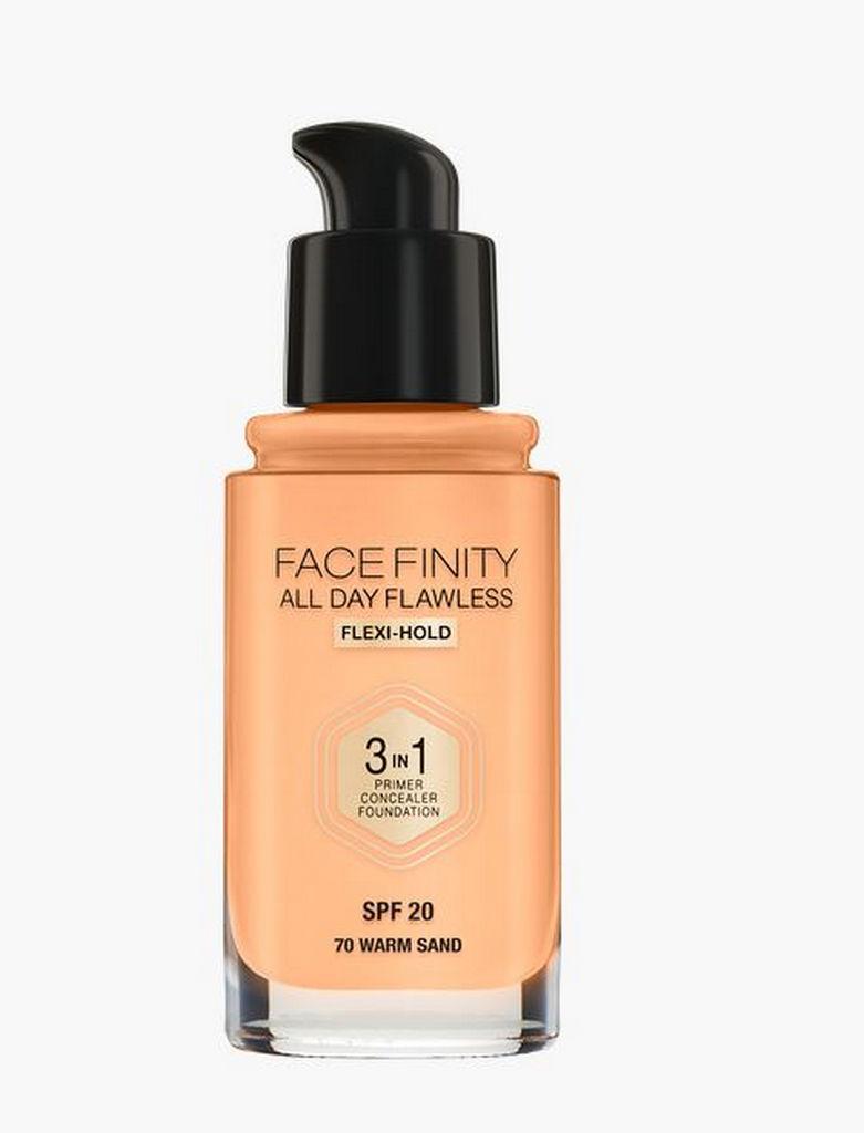 Puder tekoči, Max Factor, Facefinity 3v1 Foundation, warm sand 70