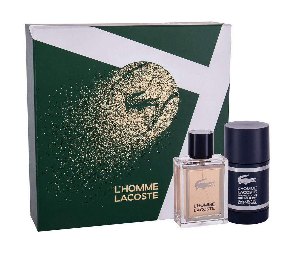 Darilni set L'homme Lacoste, miški, EDT 50ml+deostik 75ml