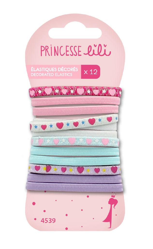 Elastike za lase Princesse Lili otroške z dekoracijo PL4539