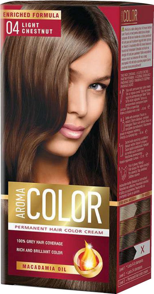 Barva za lase Aroma Color 04 svelo kostanjeva, 45ml
