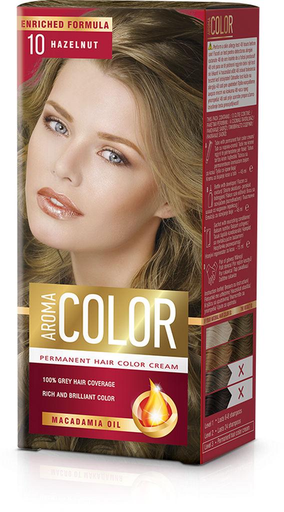 Barva za lase Aroma Color 10 lešnikovo rjava, 45ml