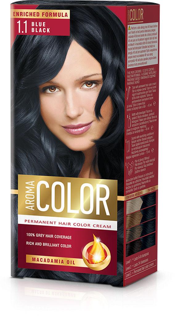 Barva za lase Aroma Color 1.1 modro črna, 45ml
