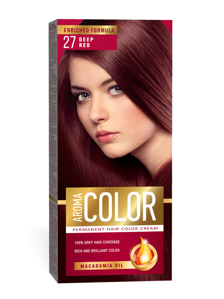 Barva za lase Aroma Color 27 globoko rdeča, 45ml