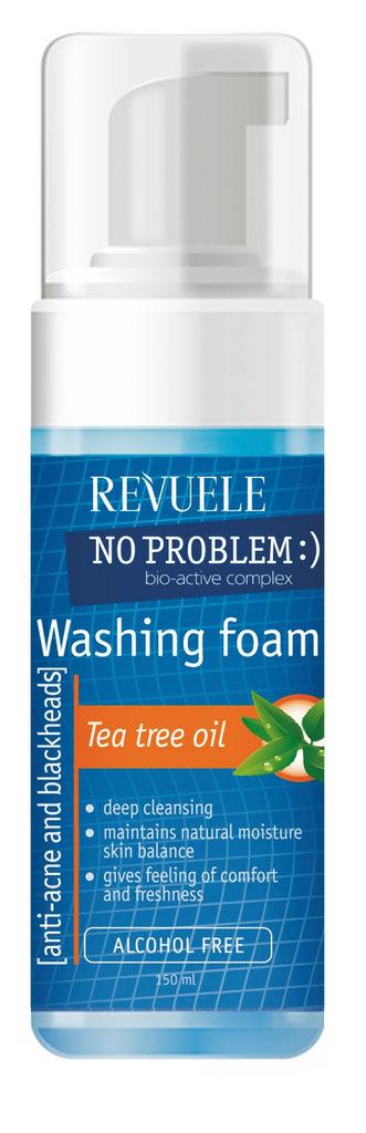 Pena Revuele No problem, za umivanje obraza, proti aknam in ogrcem z dodanim oljem čajevca, 150m