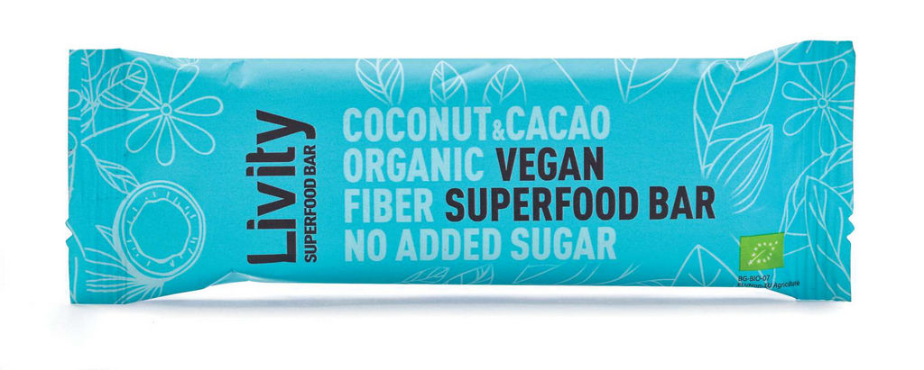 Ploščica Bio Livity, kokos, kakav, 30 g