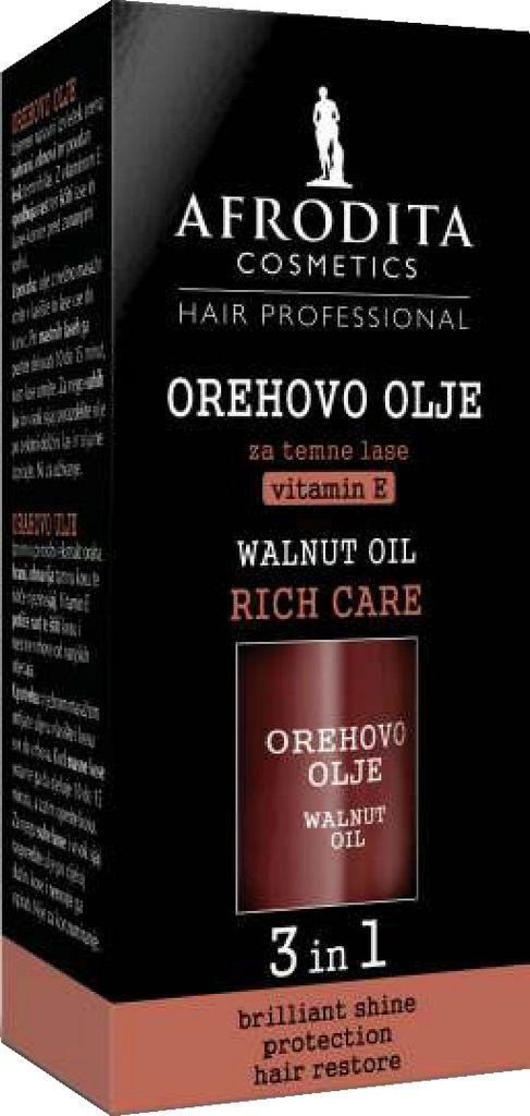 Olje za temne lase Afrodita, Orehovo, 50 ml