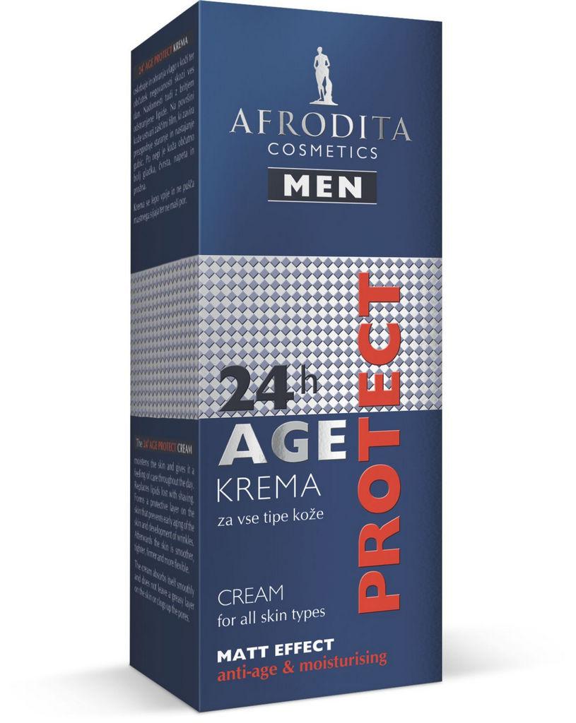 Krema za obraz Afrodita, Men Age Protect, 50 ml