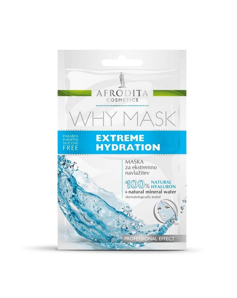 Maska za obraz Afrodita, Why Mask za ekstremno navlažitev, 2 x 6 ml